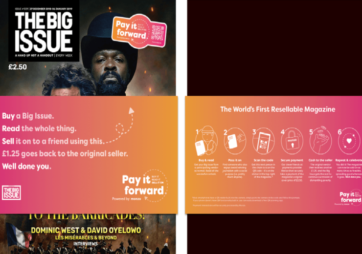 Monzo partners with The Big Issue to trial re-selling scheme aimed at tackling UK homelessness