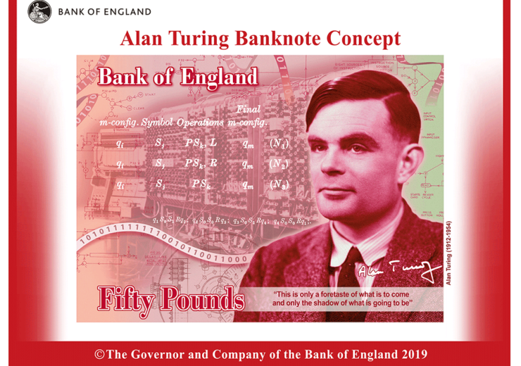 AI pioneer Alan Turing chosen to feature on the new £50 note