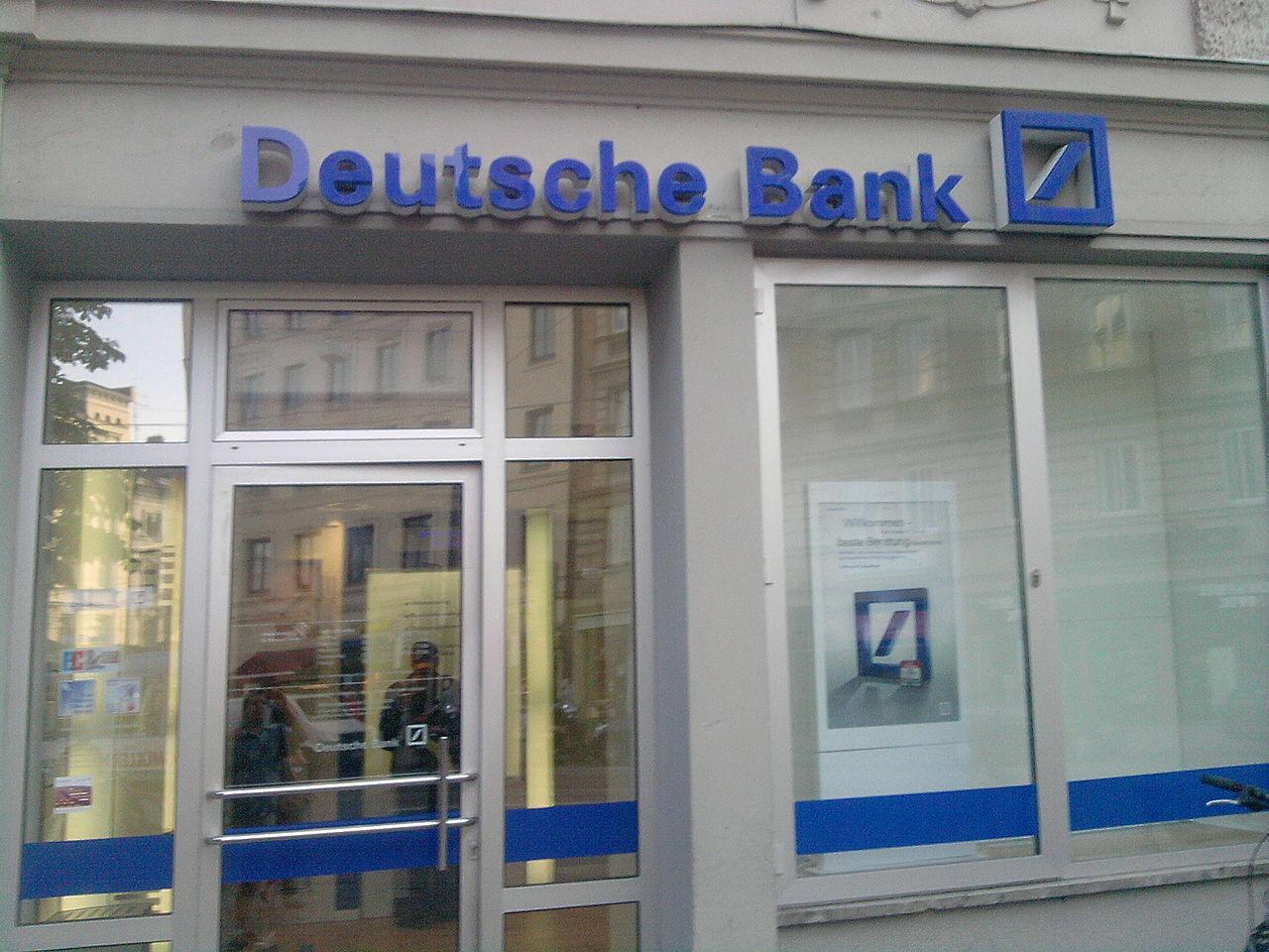 A Deutsche Bank retail branch in Munich. (Credit: Ich fahre hummer/Wikipedia.)